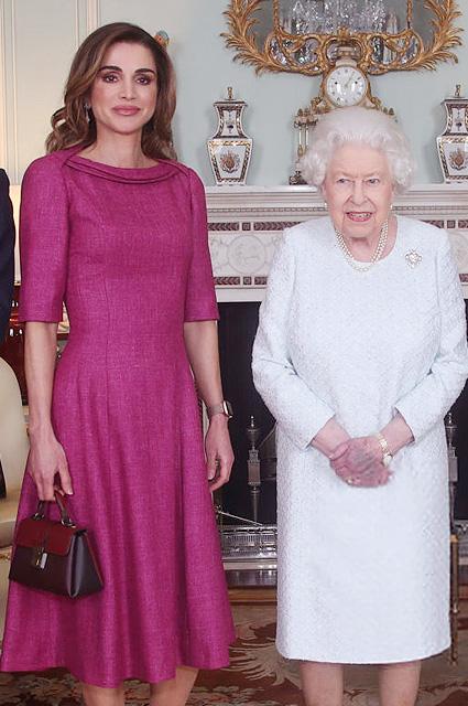 Королева Рания и королева Елизавета II