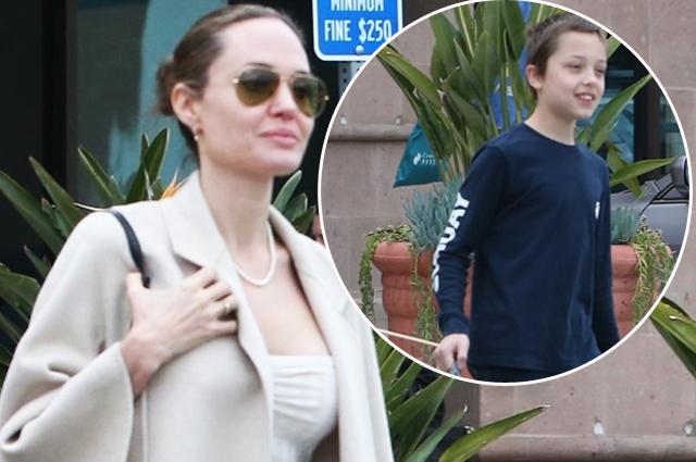 Вырастила помощника: Анджелина Джоли сходила за покупками с сыном Ноксом