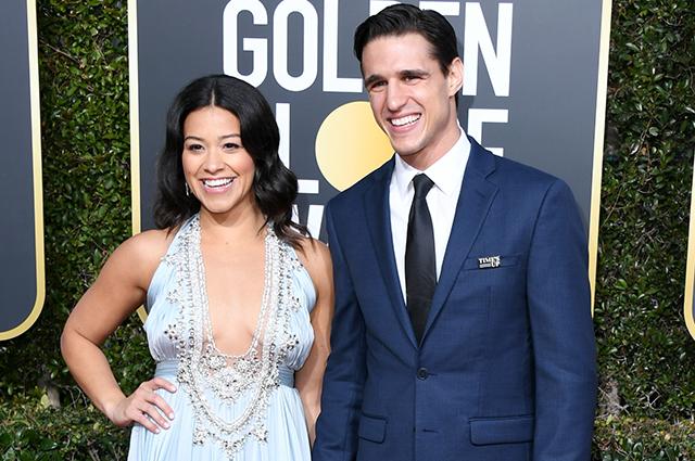 Золотой глобус — 2019: Джина Родригес и Джо ЛоЦицеро на красной дорожке