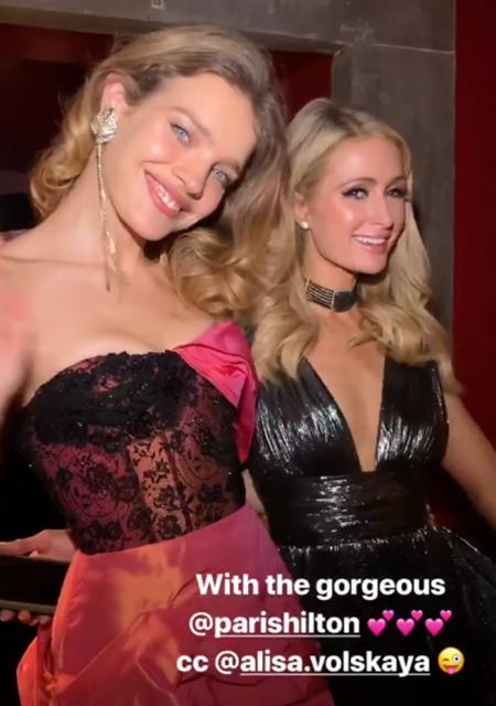 Наталья Водянова и Пэрис Хилтон