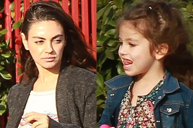 Семейный девичник: Мила Кунис с дочерью Уайетт на прогулке в Лос-Анджелесе