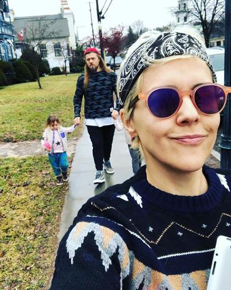Ольга Шелест с семьей