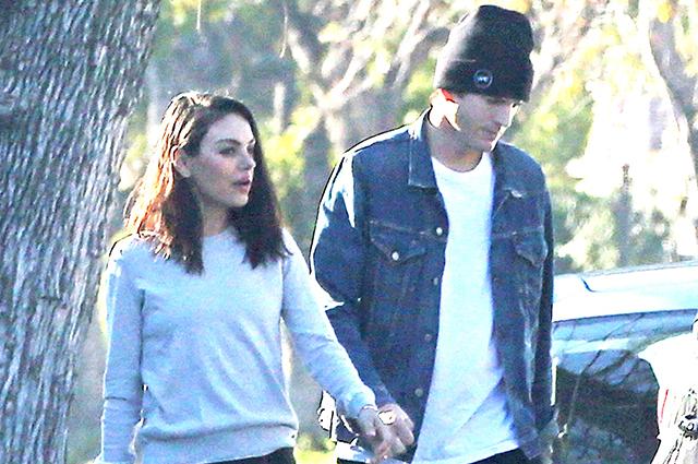 Родители на каникулах: Эштон Катчер на романтической прогулке с Милой Кунис в Лос-Анджелесе