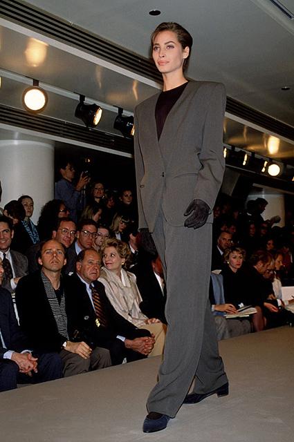Кристи Тарлингтон на показе Calvin Klein, 1989 год