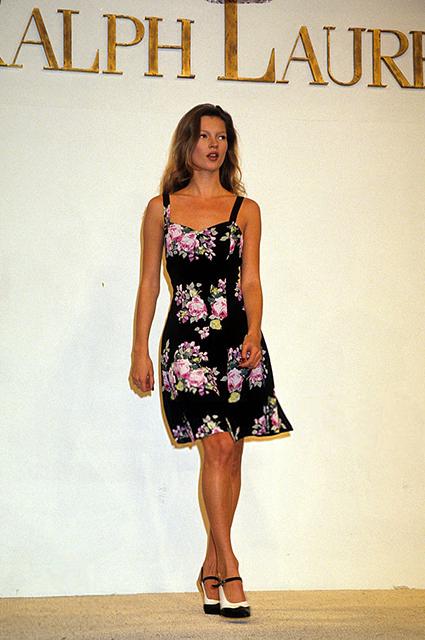 Кейт Мосс на показе Ralph Lauren в 1993 году