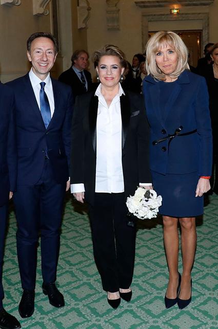 Стефен Берн, Великая герцогиня Люксембурга Мария Тереза и Брижит Макрон