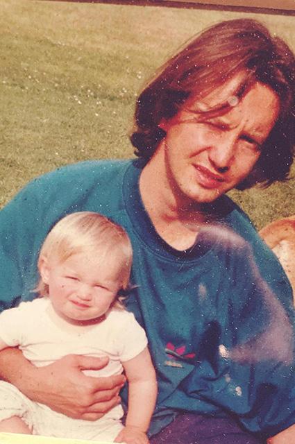 Элизабет Венеция с отцом