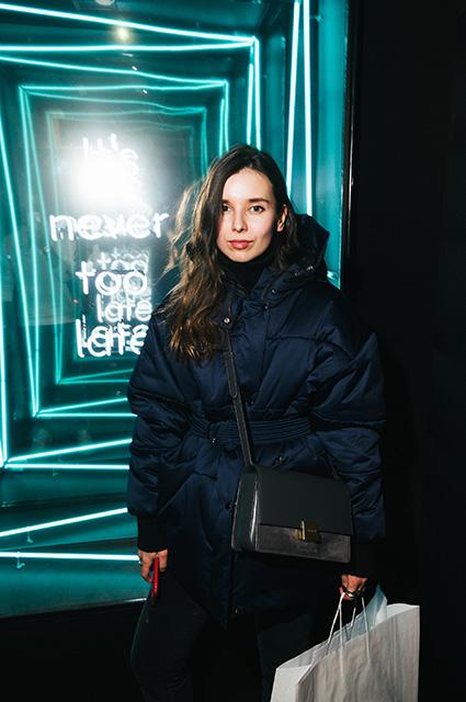 Лена Кончаловская на презентации adidas