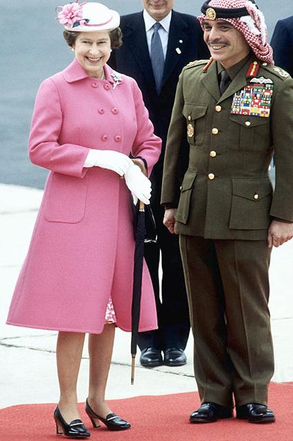 Королева Елизавета II во время визита в Иорданию в 1984 году