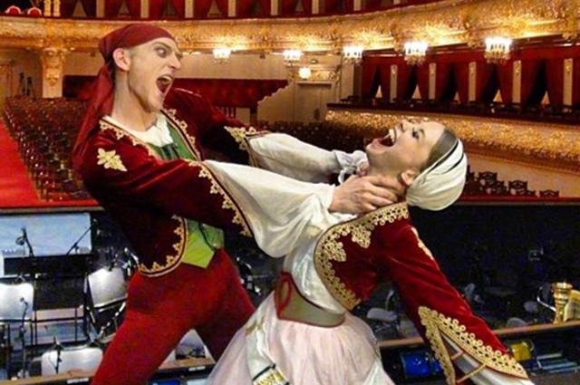 """Дэвид Холберг и Евгения Образцова после балета """"Марко Спада"""""""