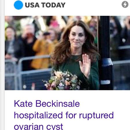 Снова в строю: Кейт Бекинсейл впервые появилась на публике после своей госпитализации