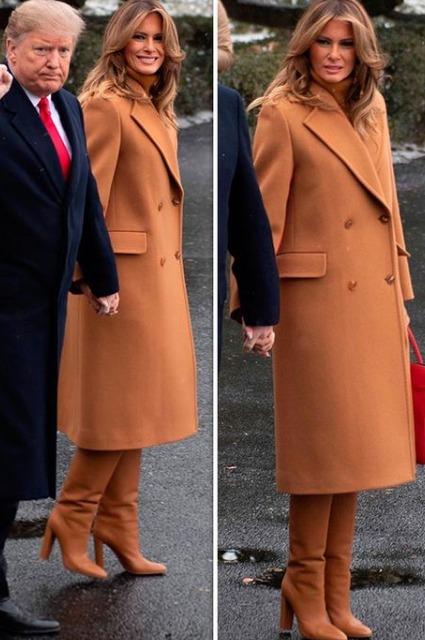 Мелания и Дональд Трамп вместе с сыном Бэрроном улетели во Флориду