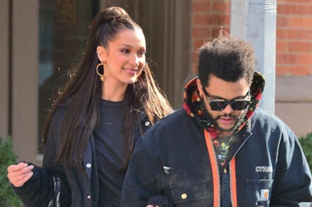 Замерзшие в любви: Белла Хадид и The Weeknd на утренней прогулке в Нью-Йорке
