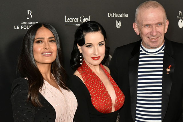 Сальма Хайек, Дита фон Тиз и другие на церемонии вручения премий The Globe de Cristal Awards в Париже