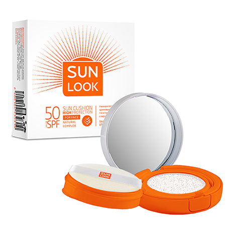 Кушон для лица солнцезащитный SPF-50, Sun Look