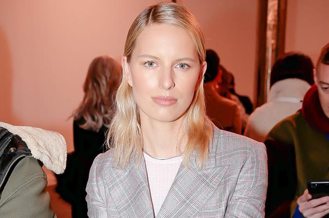 Неделя моды в Нью-Йорке: Каролина Куркова на показе Gabriela Hearst сезона осень-зима 2019/2020