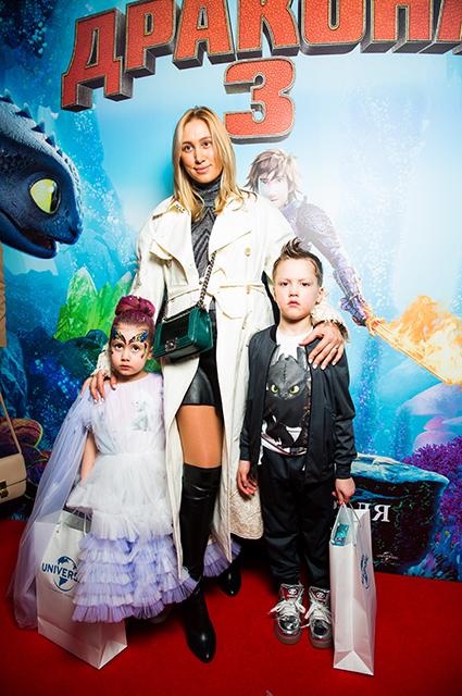 Алина Буре с детьми
