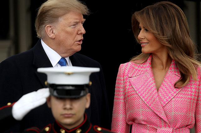 Дональд и Мелания Трамп встретились с президентом Колумбии и его супругой в Белом доме