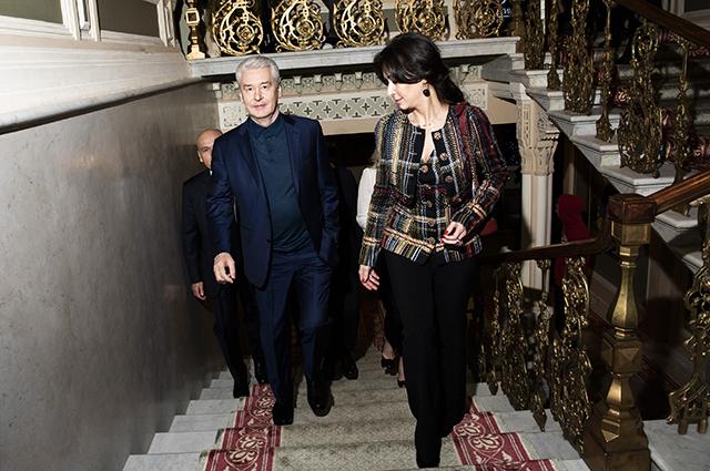 Сергей Собянин и Ирина Кудрина