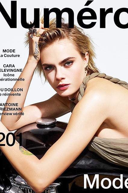 Кара Делевинь снялась для обложки мартовского Numero