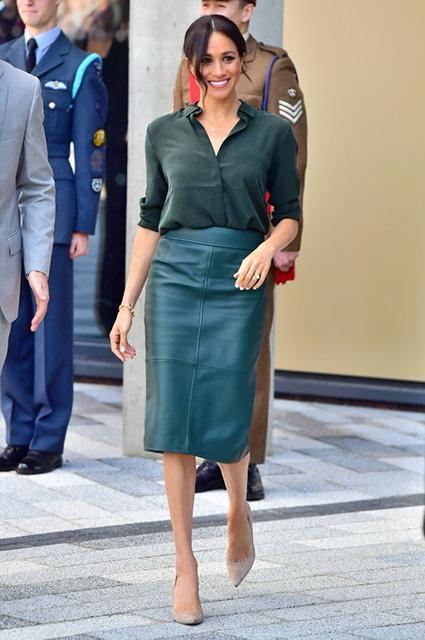 Рокерские косухи и не только: Кейт Миддлтон, Меган Маркл, княгиня Шарлен и другие аристократы в кожаной одежде