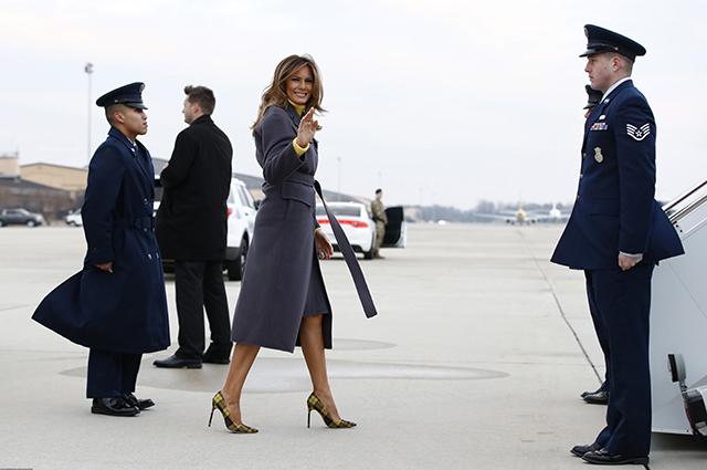 Мелания Трамп прилетела с официальным визитом в Оклахому