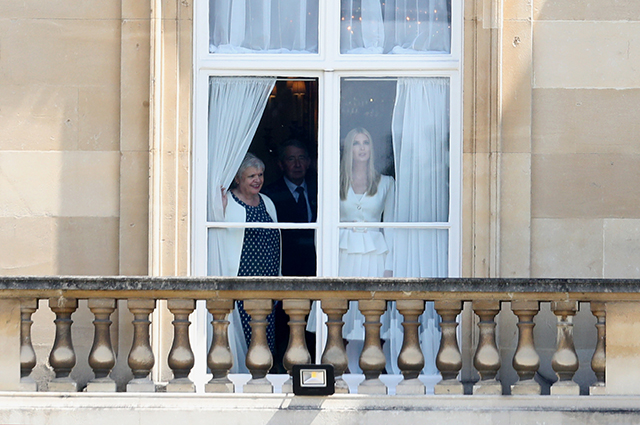 Иванка Трамп в Букингемском дворце