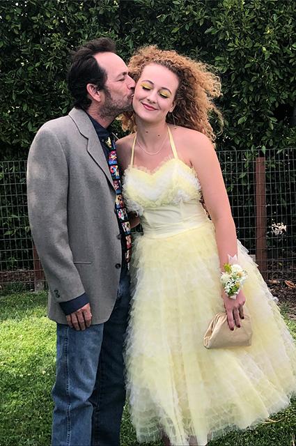 Люк Перри с дочерью Софи