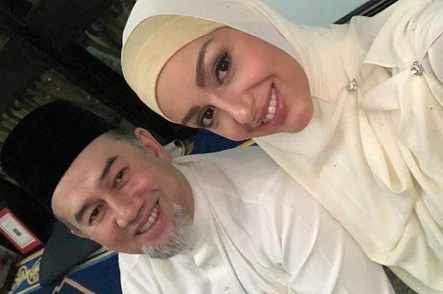 Появились первые фото беременной жены экс-короля Малайзии Оксаны Воеводиной
