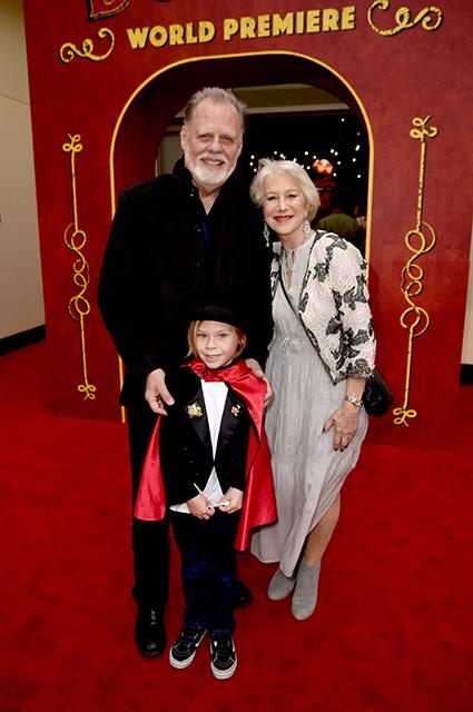 Хелен Миррен с мужем Тэйлором Хэкфордом и его внуком Уэйлоном