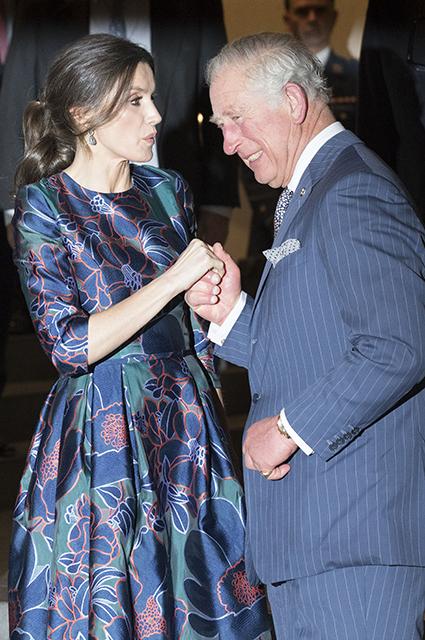 Королева Испании Летиция и принц Чарльз