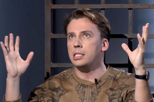 """Максим Галкин во время интервью на телеканале """"Дождь"""""""