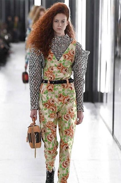 Натали Вестлинг на показе Louis Vuitton
