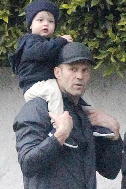 Джейсон Стэтхэм с сыном Джеком