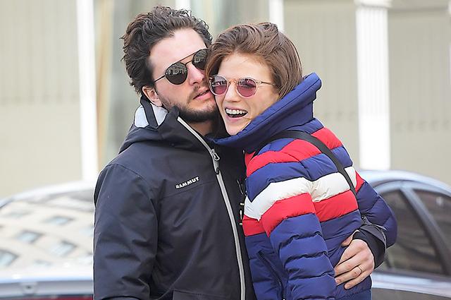 Скучаем по Игритт! Кит Харингтон и Роуз Лесли на прогулке в Нью-Йорке: новые фото пары