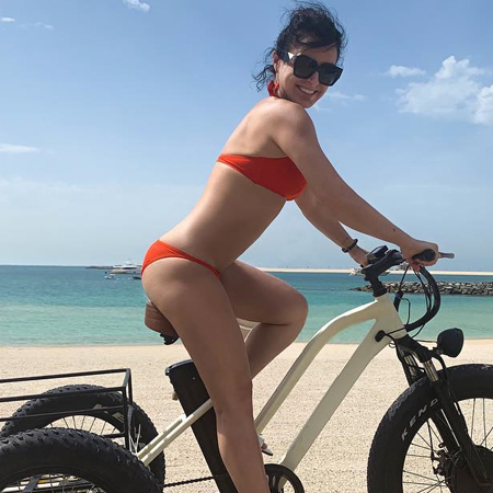 Небо-море-облака: Тина Канделаки отдыхает в Дубае
