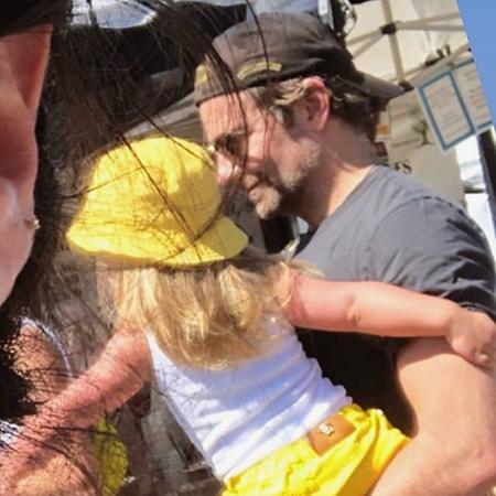 Ирина Шейк и Брэдли Купер с дочерью Леей на фермерском рынке в Лос-Анджелесе