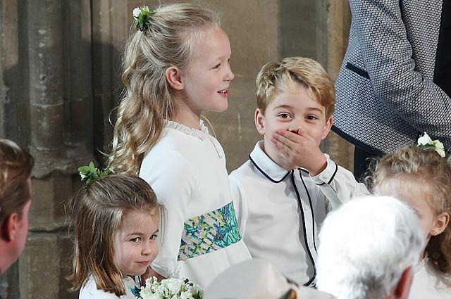 Принцесса Шарлотта, Саванна Филлипс и принц Джордж