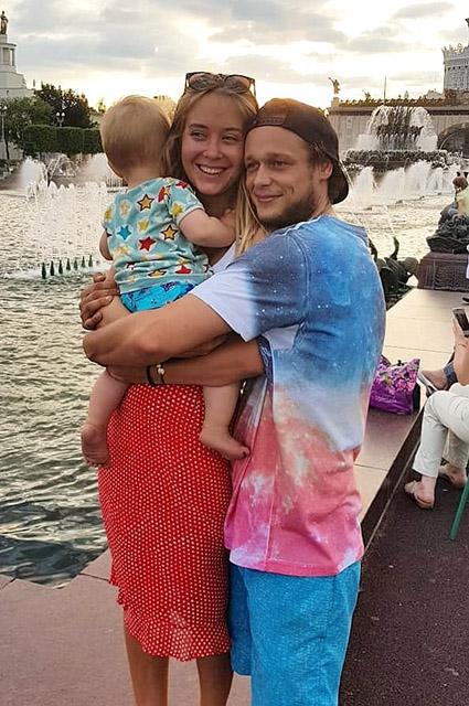 Наталья и Андре с сыном Диниэлем