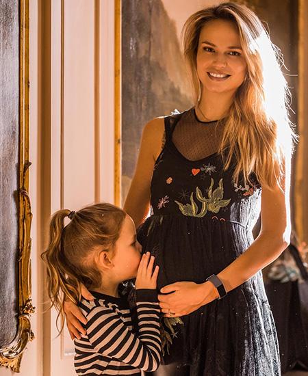 Наташа Поли с дочерью