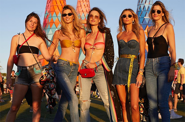Кендалл Дженнер, Елена Летучая, Джиджи Хадид, Алессандра Амбросио и другие звезды на фестивале Coachella