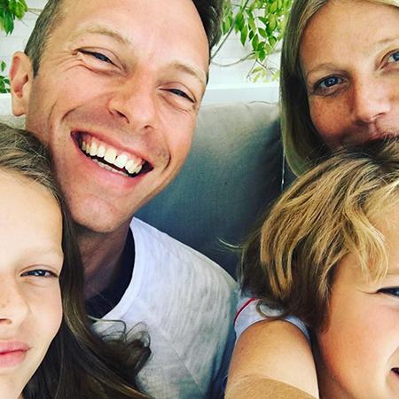 Крис Мартин и Гвинет Пэлтроу с детьми