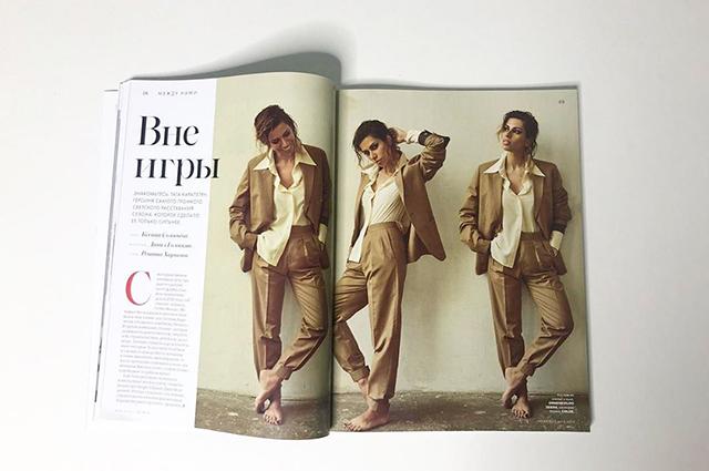 Тата Карапетян в новом номере журнала Tatler