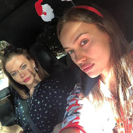 Ирина Шейк с сестрой Татьяной