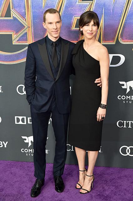 Редкий выход: Бенедикт Камбербэтч с женой Софи Хантер на премьере