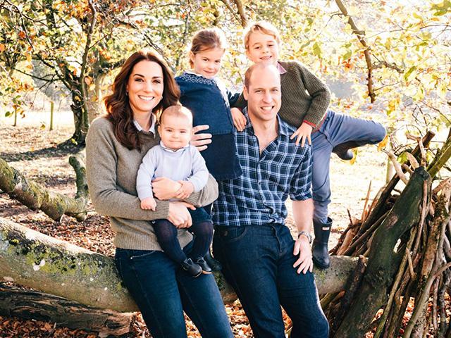 Кейт Миддлтон и принц Уильям с детьми: принцем Луи, принцессой Шарлоттой и прицем Джорджем