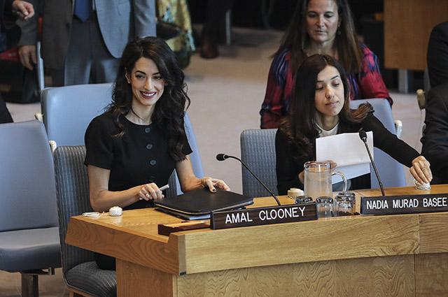 Амаль Клуни и Надя Мурад