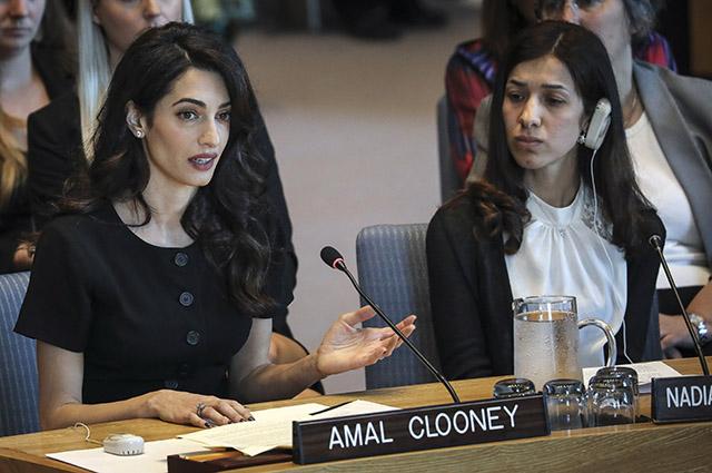 Амаль Клуни выступила на заседании Совета Безопасности ООН в Нью-Йорке