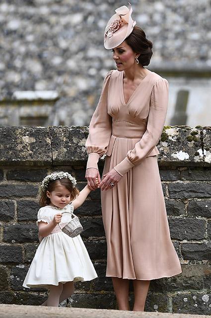 Принцесса Шарлотта и Кейт Миддлтон