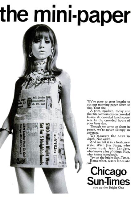 Твигги, Кэрри Брэдшоу, Дженнифер Лопес: история газетного принта в лицах и модных коллекциях
